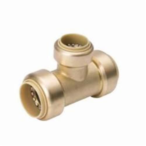 ProLine™ 632-554 Reducing Tee, 1 x 1 x 3/4 in Nominal, Push-Fit End Style, Brass