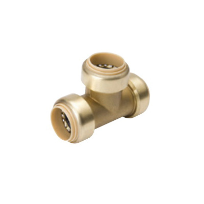 ProLine™ 632-006 Tee, 1-1/4 in Nominal, Push-Fit End Style, Brass