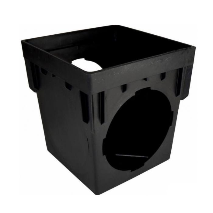 NDS® 1200 Catch Basin, 12 x 12 in, 2 Outlets, Polypropylene, Black, Domestic