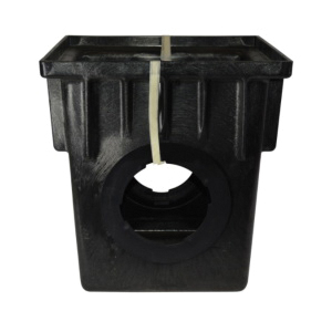 NDS® 1882 Catch Basin, 18 x 18 in, 2 Outlets, Structural Foam Polyolefin, Black, Domestic