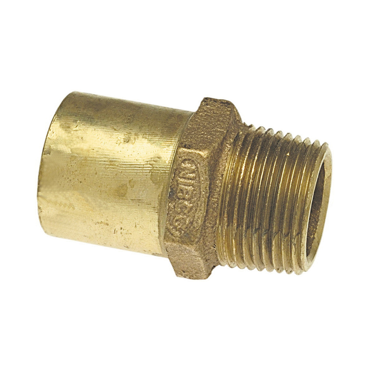 NIBCO® B034400 704-2R Drop Adapter, 1 x 3/4 in Nominal, Fitting x MNPT End Style, Bronze, Import