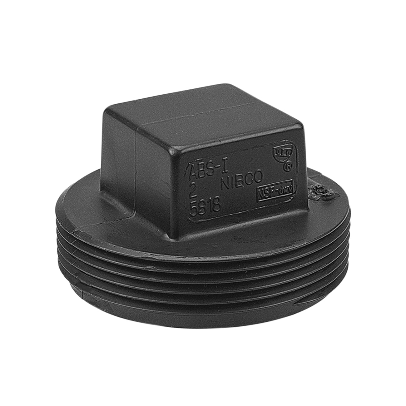 NIBCO® I177400 5818 DWV Plug, 4 in Nominal, MNPT End Style, ABS, Domestic