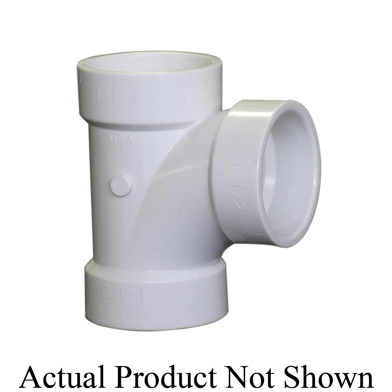 NIBCO® K099250 4811 DWV Reducing Sanitary Tee, 4 x 4 x 3 in Nominal, Hub End Style, SCH 40/STD, PVC, Domestic