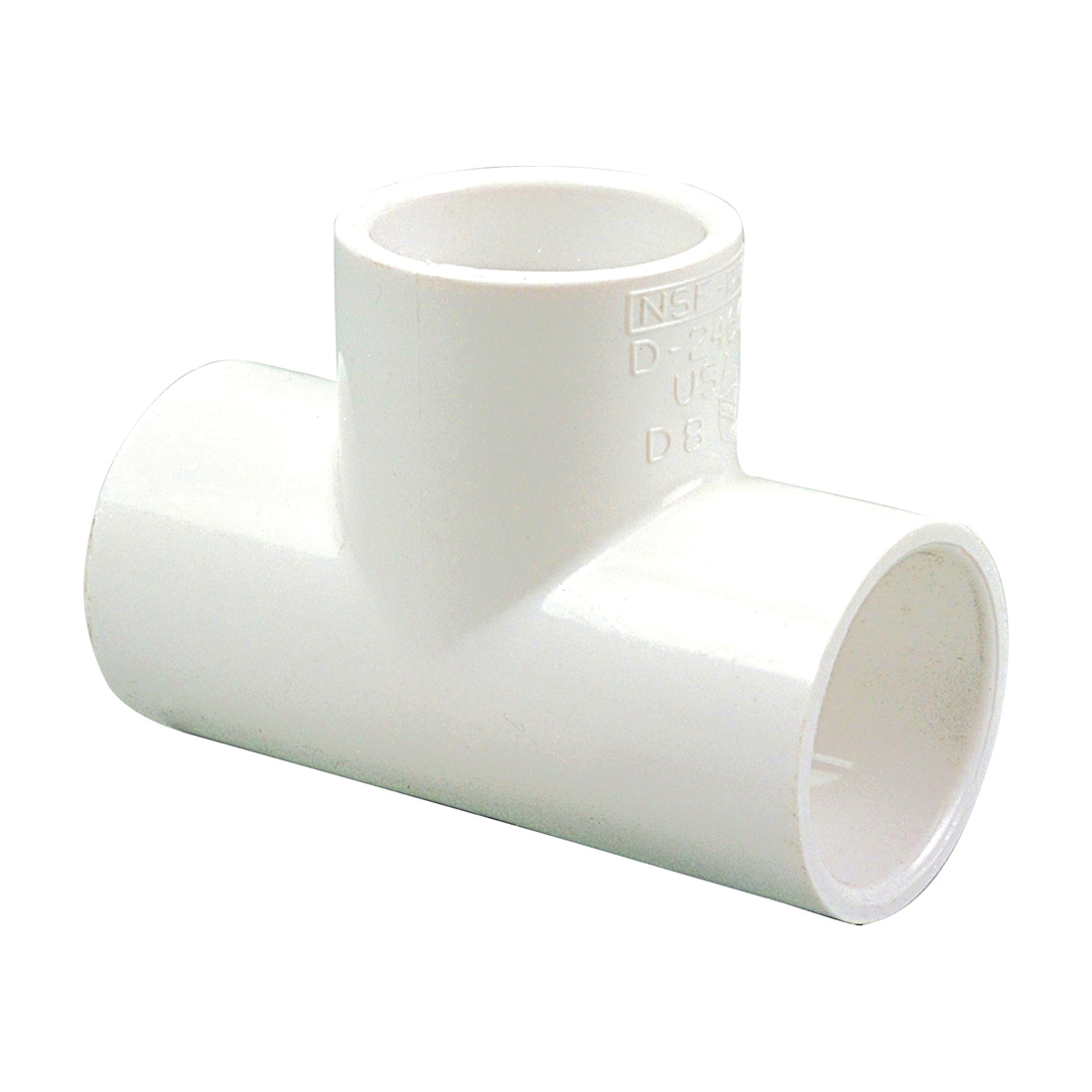 NIBCO® L11235YP 4611 Tee, 8 in Nominal, Slip End Style, SCH 40/STD, PVC, Domestic