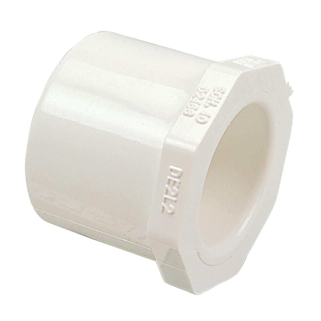 NIBCO® L17896YP 4618 Bushing, 4 x 2-1/2 in Nominal, Male Spigot x Socket End Style, SCH 40/STD, PVC, Domestic