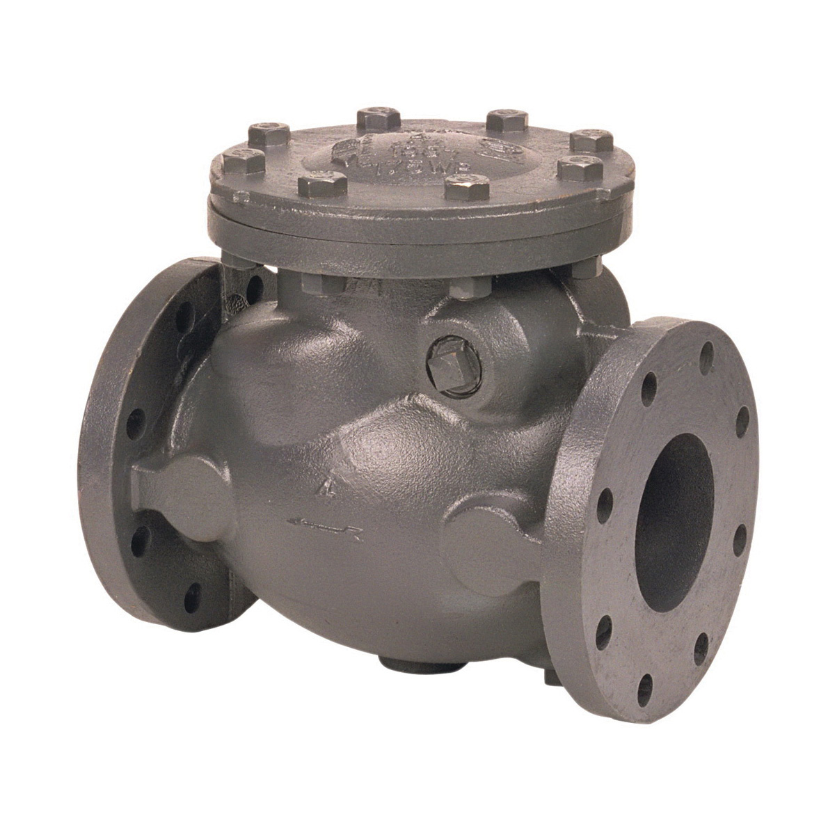 NIBCO® NHDX00H F-908-W Horizontal Swing Check Valve, 4 in, Flanged, 175 psi WWP, Cast Iron Body, ASTM A126, ASTM A307, ASTM B16, FM Approved, MSS-SP-71 Compliant, cUS UL Listed, Domestic