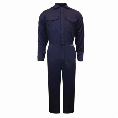 ArcGuard® C88UJXL32 Coverall, XL, Navy Blue, UltraSoft®, 42 to 46 in Chest, 32 in L Inseam
