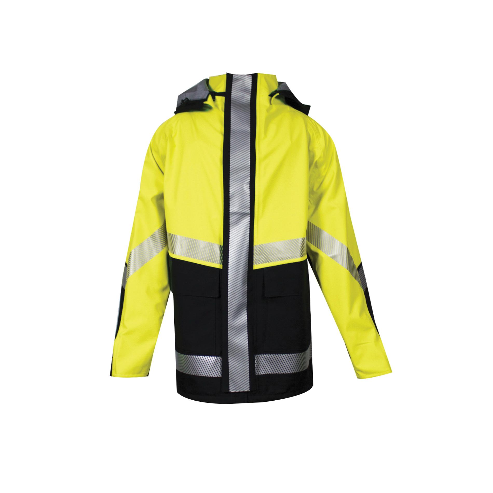 HYDROlite™ HYDROBIBYB-SM HYDROBIBYB Series Flame Resistant Rain Bib Overall, Breathable Hybrid Storm Waterproof, Small, Black/High Visibility Yellow, GORE-TEX® PYRAD® Fabric, Zipper Leg/Snap Fly Closure