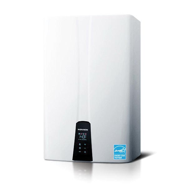 KD Navien® NPE-210A NPE-A Tankless Gas Water Heater, Liquid Propane/Natural Gas Fuel, 180000 Btu/hr Heating, Condensing, 0.5 gpm Flow Rate, Forced Draft Direct Vent, 2 in, 3 in Vent, 0.96, Commercial/Residential