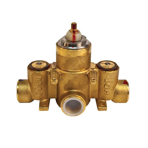 Newport Brass® 1-540 Universal Thermostatic Rough-in Valve, 3/4 in FNPT Inlet x 3/4 in FNPT Outlet, 45 psi, 17.5 gpm, Brass Body