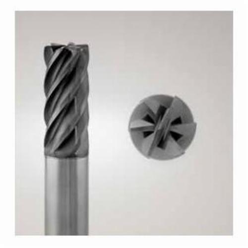 Niagara Cutter N00012 MZN510R Center Cutting High Feed Short Length Single End End Mill, 1/2 in Dia Cutter, 0.12 in Corner Radius, 0.12 in Length of Cut, 5 Flutes, 1/2 in Dia Shank, 4 in OAL, AlTiN Coated
