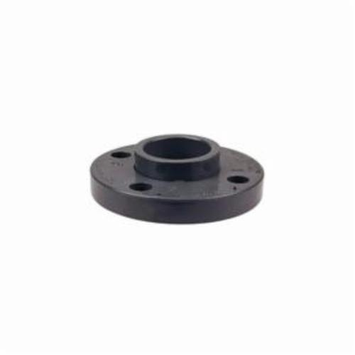 Chemtrol® CA25470 4551-A 2-Piece Van Stone Flange With Webbed Ring and Separate Rotating Hub, 4 in Nominal, PVC, Female Socket Connection, 150 lb, 8.98 in OD, Domestic