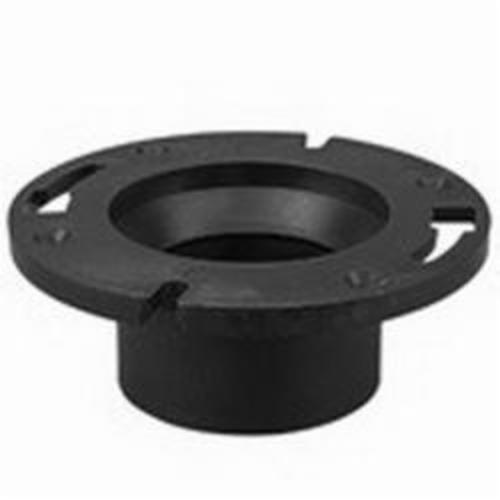 NIBCO® I355300 5851 DWV Reducing Closet Flange, 4 in Pipe, ABS, Domestic