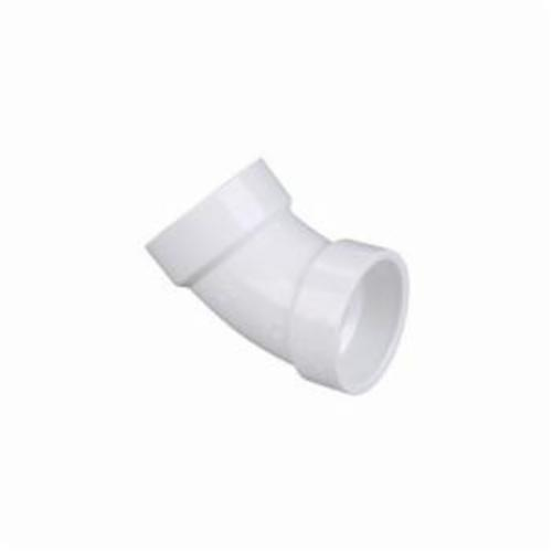 NIBCO® K042650 4806 45 deg DWV Bend, 3 in Nominal, Hub End Style, PVC, Domestic