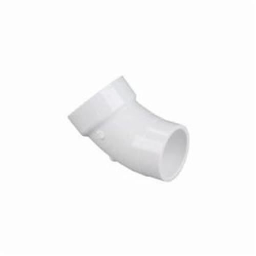 NIBCO® K044150 4806-2 45 deg DWV Street Bend, 3 in Nominal, Spigot x Hub End Style, PVC, Domestic