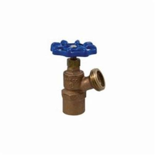 NIBCO® N64F0P8 72 Series Multi-Turn Boiler Drain Valve, 3/4 in Nominal, Cup x Hose End Style, 125 psi Pressure, Cast Copper Body, Import