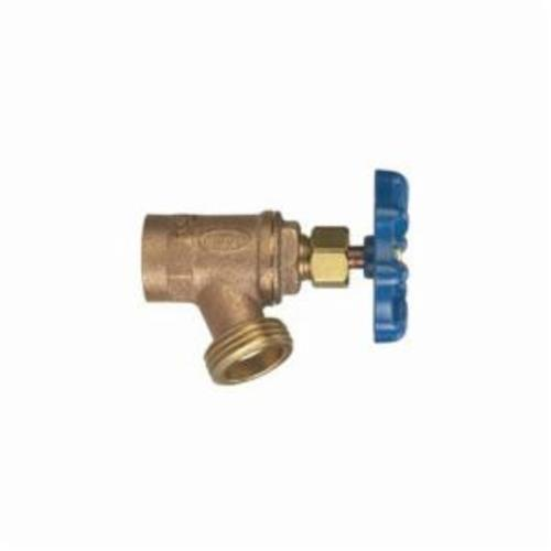 NIBCO® N64K008 73CL Multi-Turn Boiler Drain Valve, 3/4 in Nominal, FNPT x Hose End Style, 125 psi Pressure, Cast Copper Body, Import
