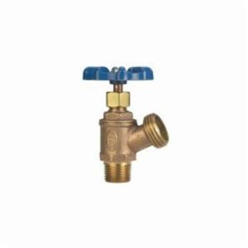 NIBCO® N64N006 74CL Multi-Turn Boiler Drain Valve, 1/2 in Nominal, MNPT x Hose End Style, 125 psi Pressure, Cast Copper Body, Import
