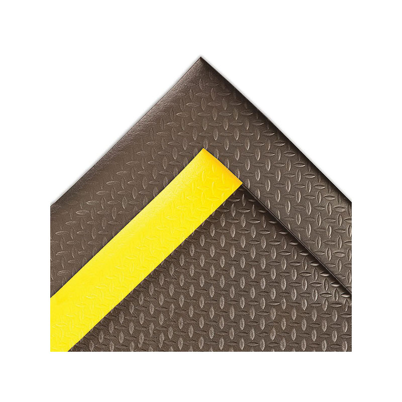 NoTrax® 480S0035BL Pebble Trax™ 480 Anti-Fatigue Floor Mat, 5 ft L x 3 ft W x 1/2 in THK, SBR Rubber, Pebble Embossed Surface Pattern, Closed Cell PVC Foam Base, Resists: Abrasion, Tear and Spark