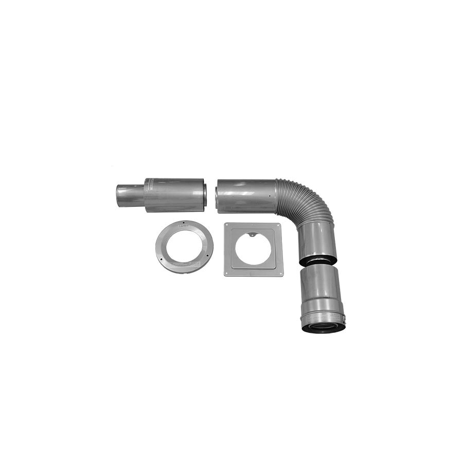 Noritz® CVK-H Standard Concentric Vent Pipe Horizontal Kit, For Use With: Tankless Water Heater, 5.8 to 13.2 in Wall Thickness, Stainless Steel