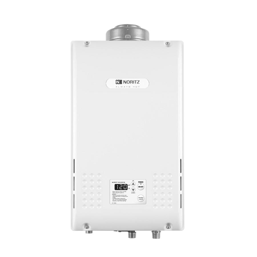 Noritz® NR981-DVC-LP Mid Efficiency Tankless Water Heater, Liquid Propane Fuel, 199900 Btu/hr Heating, Indoor/Outdoor: Indoor, 0.5 to 9.8 gpm Flow Rate, Concentric Direct Vent, 0.88, Residential