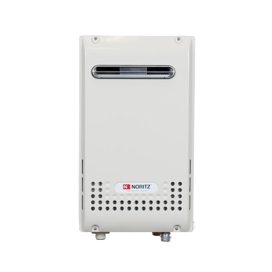 Noritz® NR981-OD-NG Mid Efficiency Tankless Water Heater, Natural Gas Fuel, 199900 Btu/hr Heating, Indoor/Outdoor: Outdoor, 0.5 to 9.8 gpm Flow Rate, Power Vent, 0.82, Residential