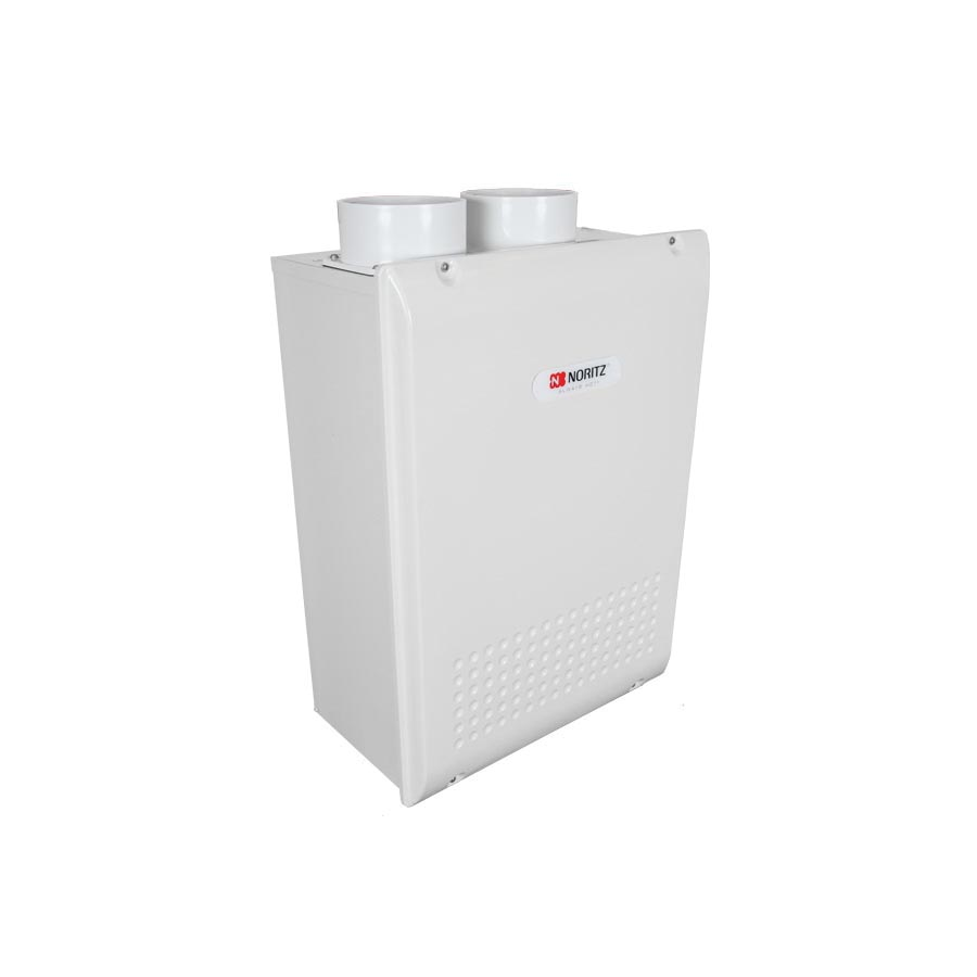 Noritz® NRC111-DV-LP Tankless Water Heater, Liquid Propane Fuel, 199900 Btu/hr Heating, Indoor/Outdoor: Indoor, Condensing, 0.5 to 11.1 gpm Flow Rate, Direct Vent, 3 in, 4 in Vent, 0.94, Residential