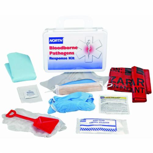 North® by Honeywell 019740-0027L Bloodborne Pathogen Response Kit, 24 Unit, White, Plastic