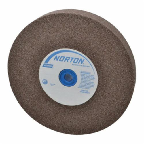 Norton® Gemini® 07660788285 57A Alundum® Straight Bench and Pedestal Grinding Wheel, 8 in Dia x 1 in THK, 1 in Center Hole, 60/80 Grit, Aluminum Oxide Abrasive