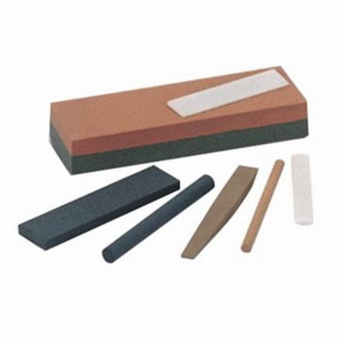 Norton® Crystolon® 61463685520 Single Grit Abrasive Benchstone, 8 in L x 2 in W x 1 in H, 2 in Dia, 150 Grit