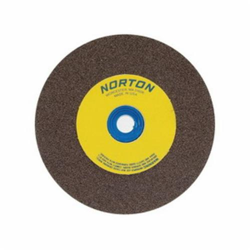 Norton® Gemini® 66253042317 57A Alundum® Straight Bench and Pedestal Grinding Wheel, 8 in Dia x 3/4 in THK, 1 in Center Hole, 100/120 Grit, Aluminum Oxide Abrasive