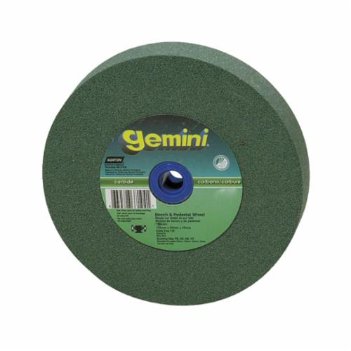 Norton® Gemini® 07660788290 57A Alundum® Straight Bench and Pedestal Grinding Wheel, 10 in Dia x 1 in THK, 1-1/4 in Center Hole, 60/80 Grit, Aluminum Oxide Abrasive