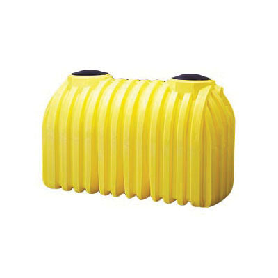 Norwesco® 41720 Double Compartment Below Ground Legacy Ribbed Septic Tank With Septic Adapters, 1000 gal Capacity, 102 in L x 60 in W x 63 in H