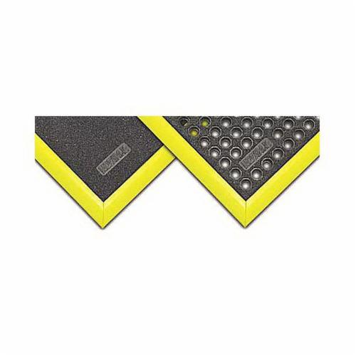 NoTrax® 551F0003YL 551 M.D. Ramp System® Female Mat Ramp, Yellow, For Use With Notrax® Cushion Ease®, Nitrile Rubber, Rubber Backing, 3 ft L x 2 in W x 3/4 in THK