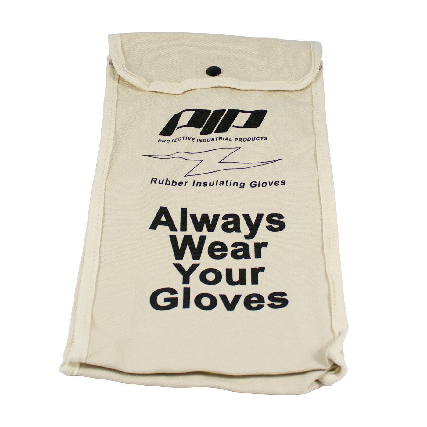 Novax® 148-2142 Protective Bag, Plastic Hook, Snap Closure, For Use With Novax Rubber Insulating Gloves, Nylon, Black with Red/White Lettering