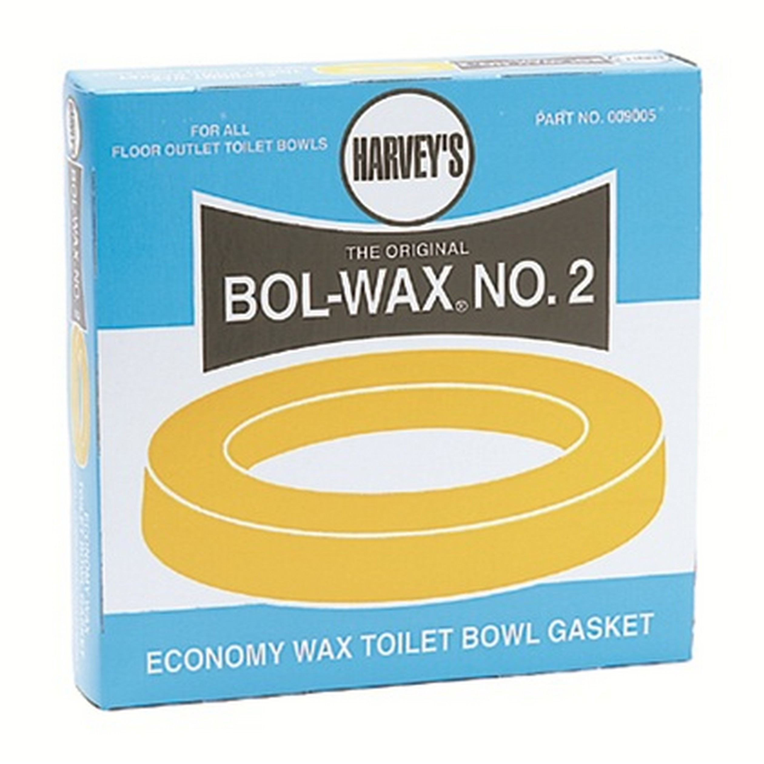 William H. Harvey 009005 Bol-Wax® No. 2 Economy Wax Gasket, For Use With Floor Outlet Toilet