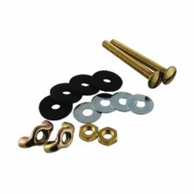 Harvey® 068025 Tank-to-Bowl Bolt Kit With Hex Nuts in Clear Plastic Bag, For Use With Toilet Flange, 5/16 x 3 in, Brass