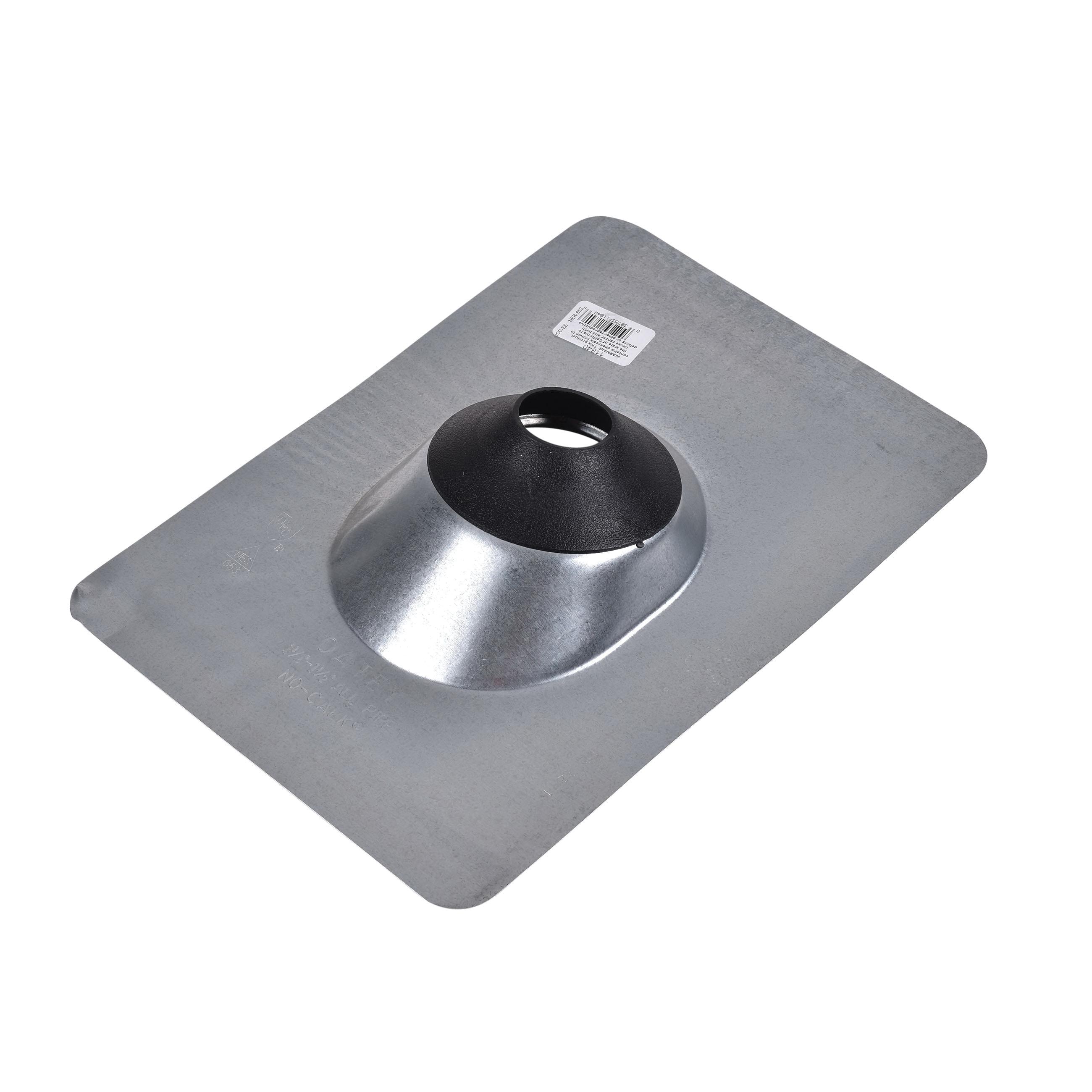 Oatey® No-Calk® 11840 Roof Flashing, Steel, 1 in Pipe, 9 in W x 12-1/2 in L Base, Domestic