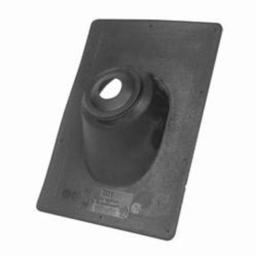 Oatey® No-Calk® 11908 Standard Base Roof Flashing, Thermoplastic, 1-1/4 to 1-1/2 in Pipe, 9-1/4 in W x 13 in L Base