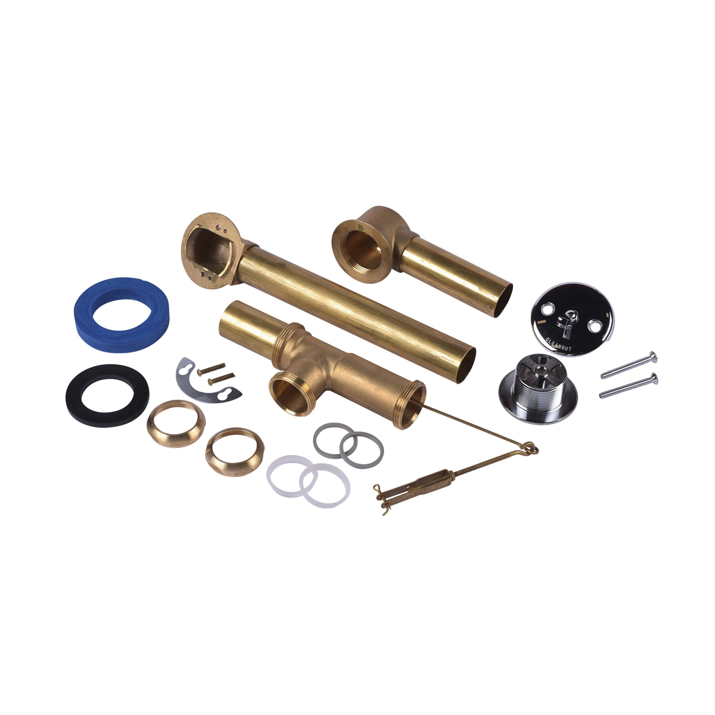Dearborn® Brass 226-3 Trip Lever Bath Waste Full Kit, Brass, Import