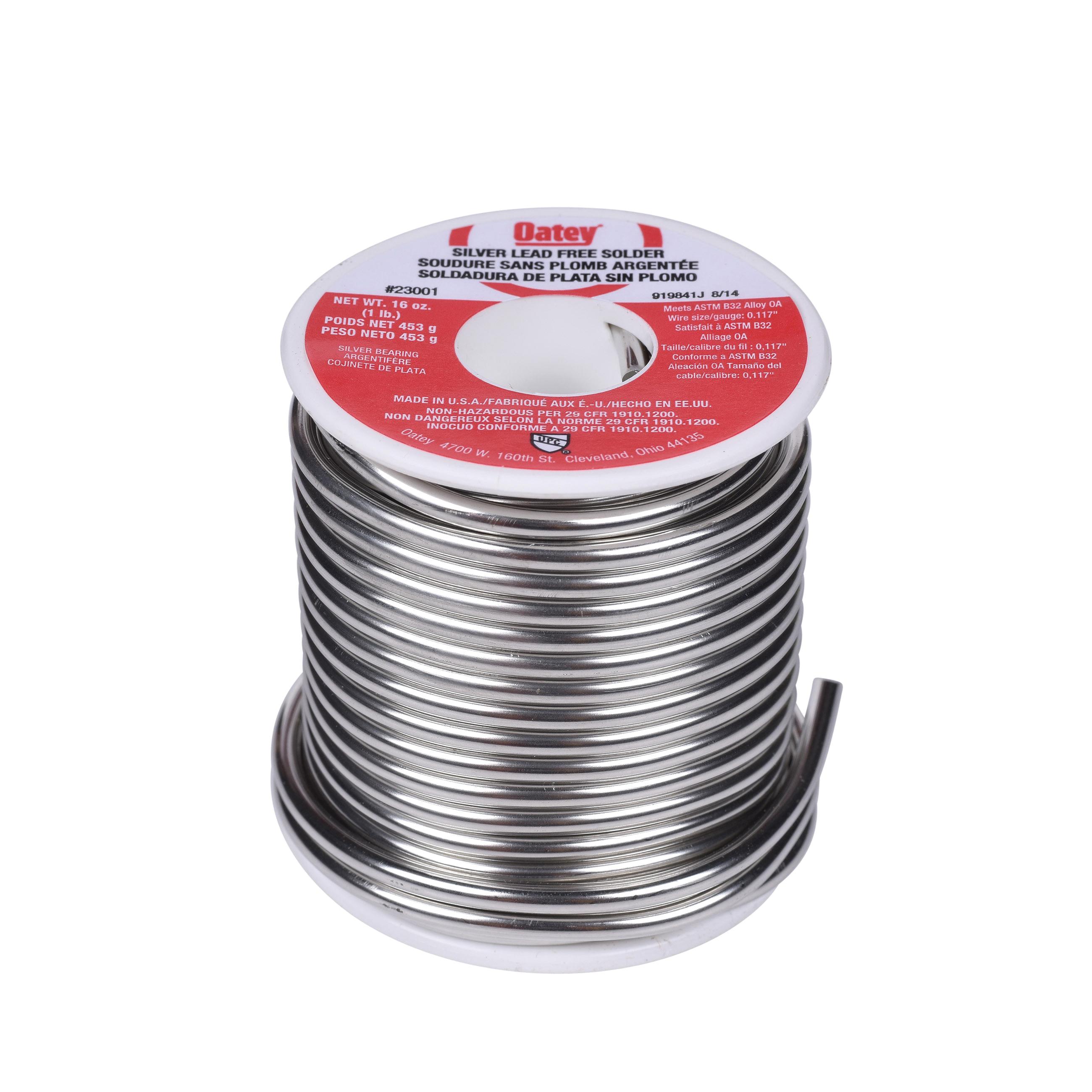 Oatey® 23001 Silver Wire Solder, 420 to 460 deg F Melting, 1 lb, Alloy