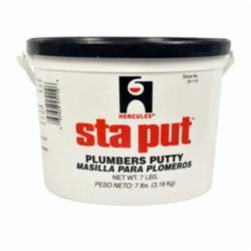 Hercules® Sta Put® 25110 Superior Plumber's Putty, 7 lb Pail, Solid, Off-White, 1.8
