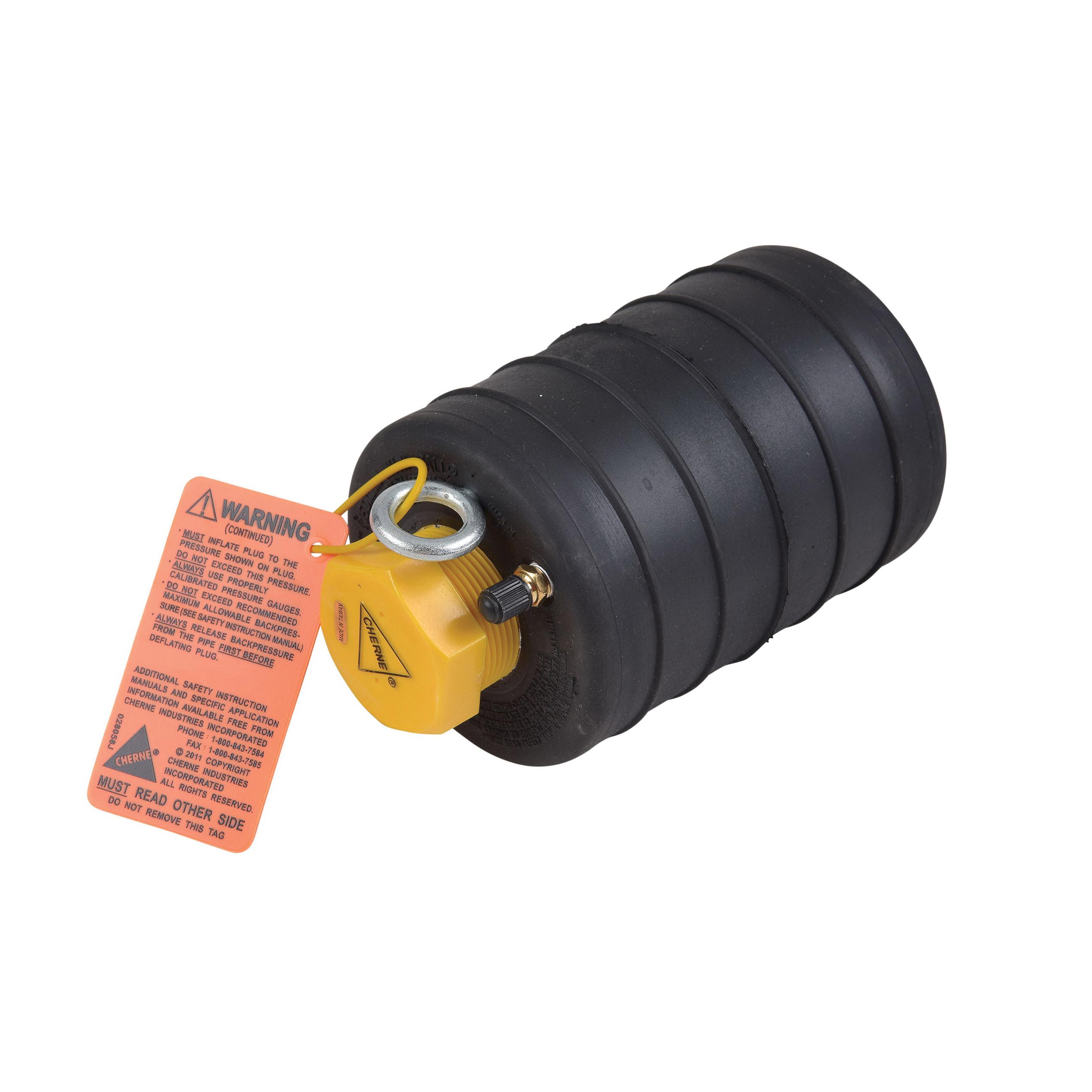 Cherne® Muni-Ball® 262064 Original Pneumatic Pipe Plug, 6 in, Natural Rubber