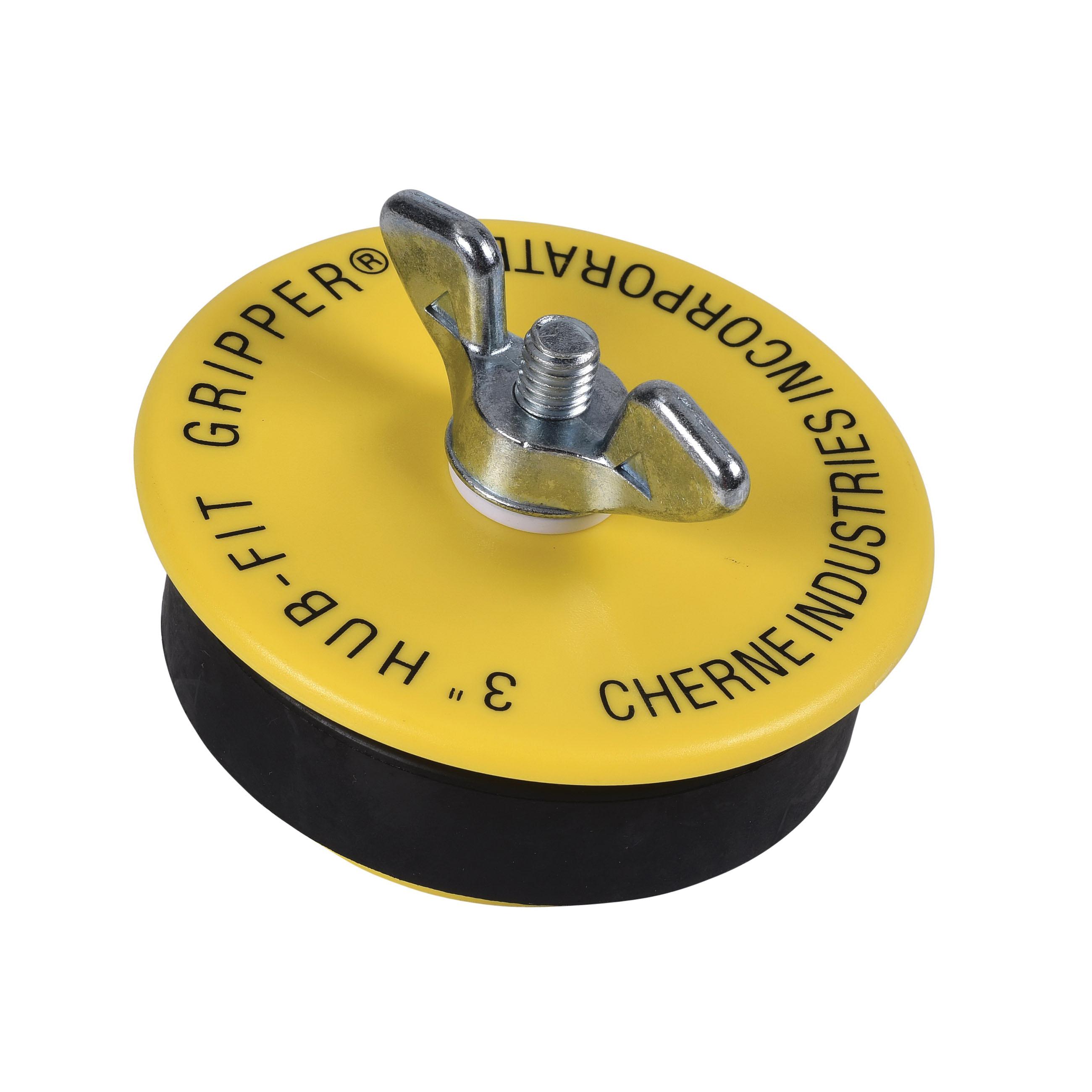 Cherne® Hub-Fit Gripper® 270538 Mechanical Pipe Plug, 3 in, ABS