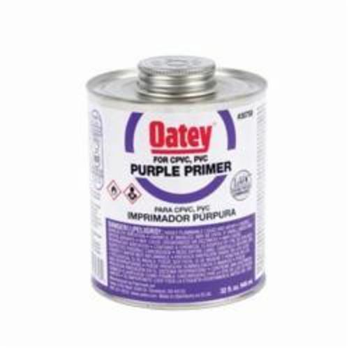 Oatey® 30758 Primer, For Use With PVC and CPVC Pipe and Fittings, Purple, 32 oz Container