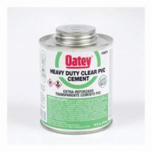 Oatey® 30876 Heavy Duty Low VOC PVC Cement, 16 oz Container, Clear