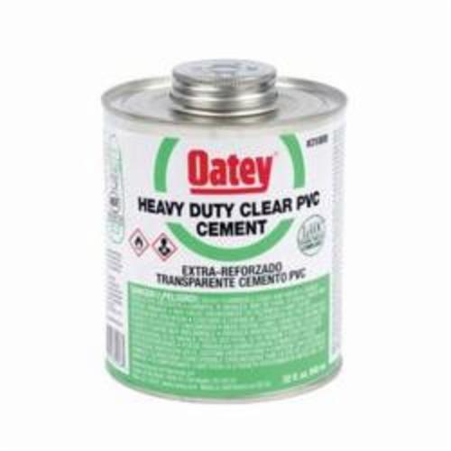Oatey® 31008 Heavy Duty PVC Cement, 32 oz Container, Clear