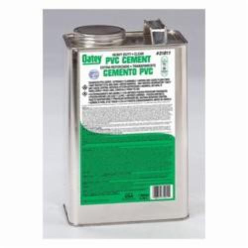 Oatey® 31011 Heavy Duty Low VOC PVC Cement, 1 gal Container, Clear, For Use With PVC Pipe