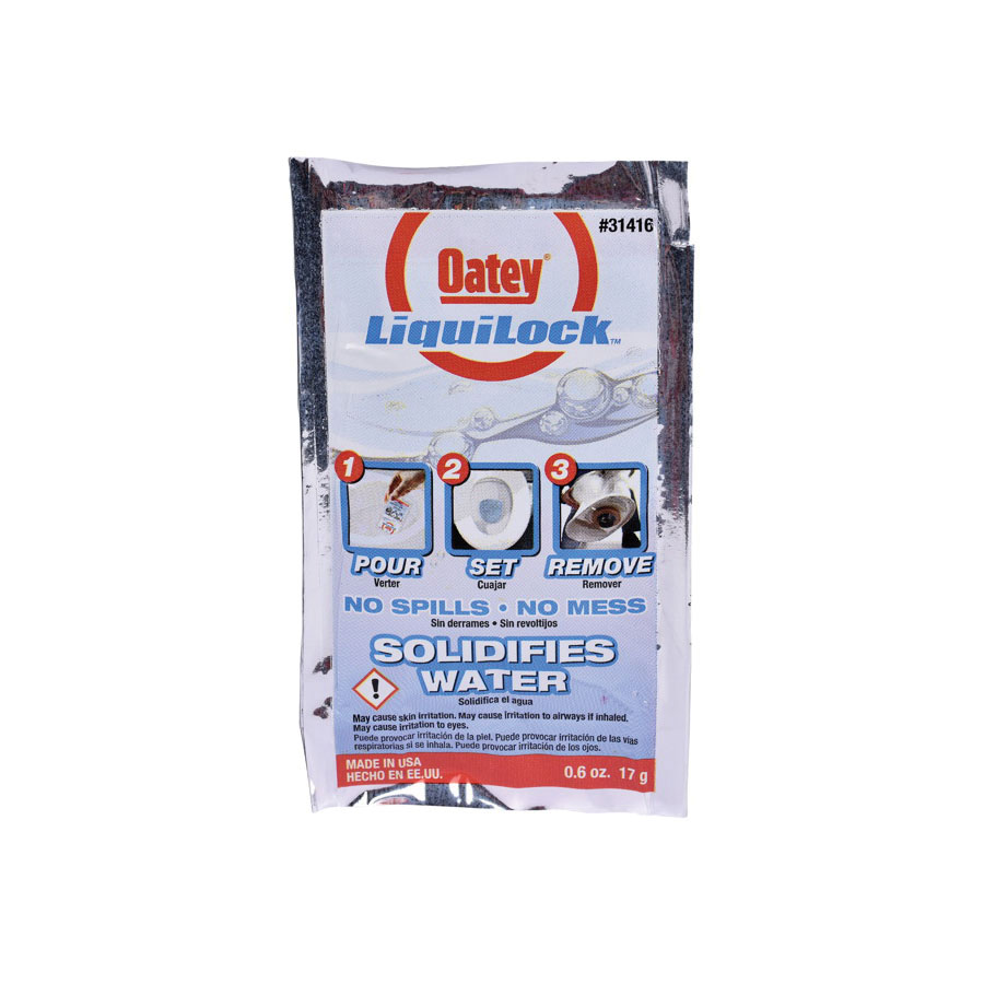 Oatey® Liquilock™ 31417 Gel, 0.6 oz, Powder, Acetic Acid, White