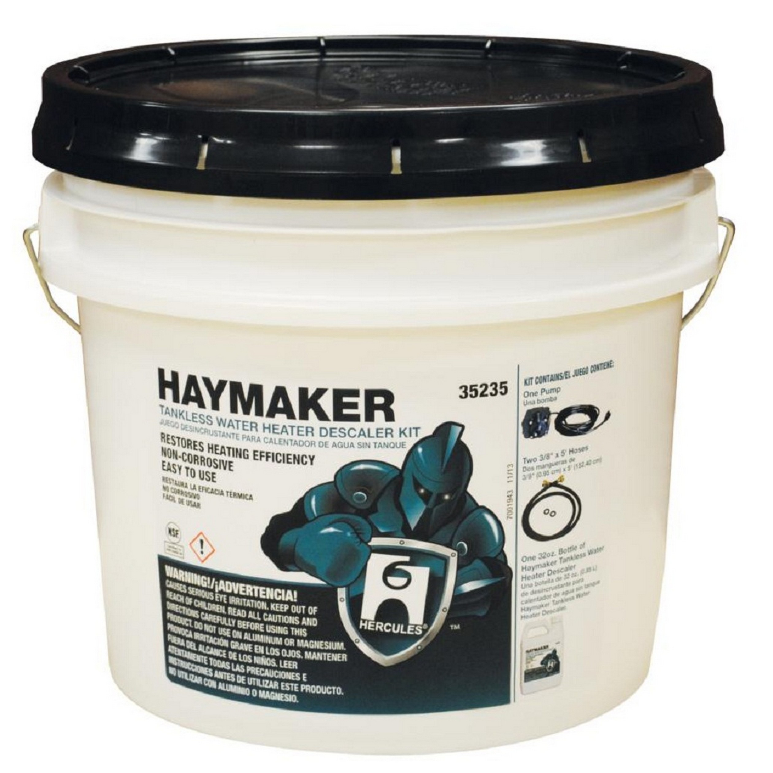 Hercules® Haymaker® 35235 Tankless Water Heater Descaler Kit, Bucket, Liquid, Slight Sugary